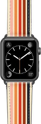Casetify Retro Saffiano Faux Leather Apple Watch® Strap