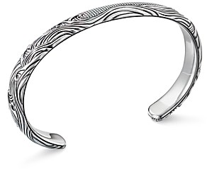 David Yurman Sterling Silver Waves Cuff Bracelet