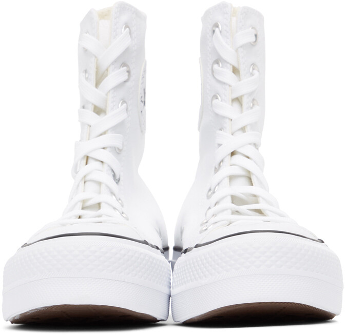 Thumbnail for your product : Converse White Platform Chuck Taylor All Star High Sneakers