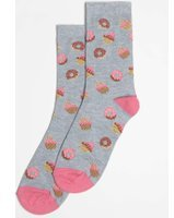 Dorothy Perkins Womens Doughnut Print Socks- Blue