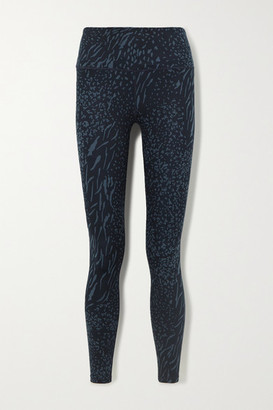 Varley Century Printed Stretch Leggings - Navy