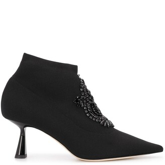Jimmy Choo Bead-Detailing 70mm Ankle Boots