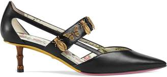 Gucci insect studded strap pumps