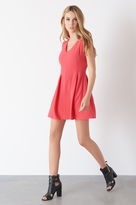 Dynamite V-Neck Fit And Flare Dress