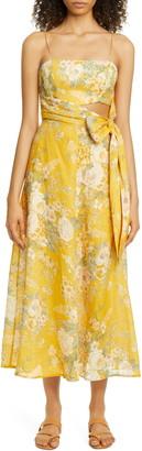 Zimmermann Amelie Floral Linen Sundress