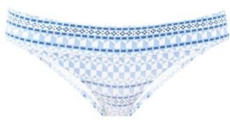 Heidi Klein Geometric-print Bikini Briefs - Blue Print