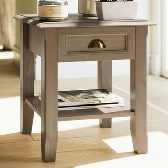 Alcott Hillâ® Mclaren Solid Wood End Table with Storage Alcott HillA Color: Mahogany Brown