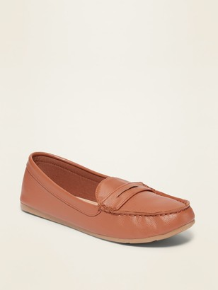 Old Navy Faux-Leather Driving Moccasin Flats for Women
