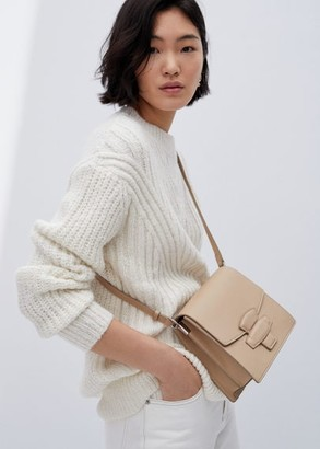 MANGO Geometric bag nude - One size - Women