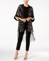 Betsey Johnson BLUE BY Paisley Sequined Evening Kimono