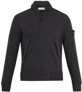 Stone Island Concealed-hood zip-through cotton sweatshirt
