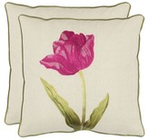 "Safavieh 2-Pack Embroidered Tulip Toss Pillows (18x18"")"
