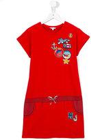 Little Marc Jacobs badges dress - kids - Cotton/Spandex/Elastane/Viscose - 13 yrs