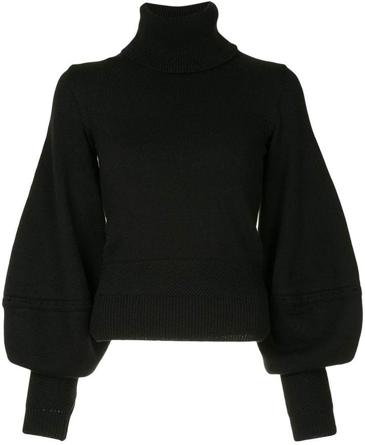 Oscar de la Renta balloon sleeve sweater