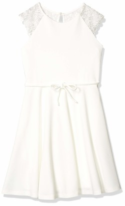 Speechless Girls' Lace Back Fit and Flare Party Dress