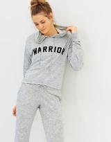 Spiritual Gangster Warrior Arch Crop Hoodie