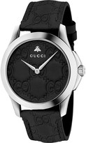 Gucci YA1264031 G-Timeless stainless steel and leather watch
