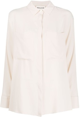 Semi-Couture Patch Pocket Blouse