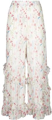 Alexis Faizel floral print trousers