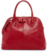 Pink Haley Thea Genuine Leather Satchel