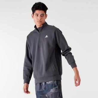 adidas Men's Badge of Sport Striped Half-Zip Hoodie
