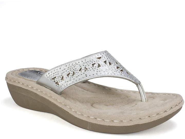eabc3953e7 Silver Wedge Thong Sandals - ShopStyle