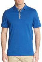 Michael Kors Chambray-Trimmed Cotton Polo