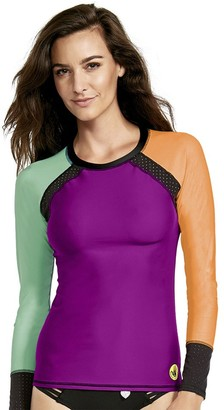 Body Glove Women's Surf's up Long Sleeve Raglan Rashguard with UPF 50+