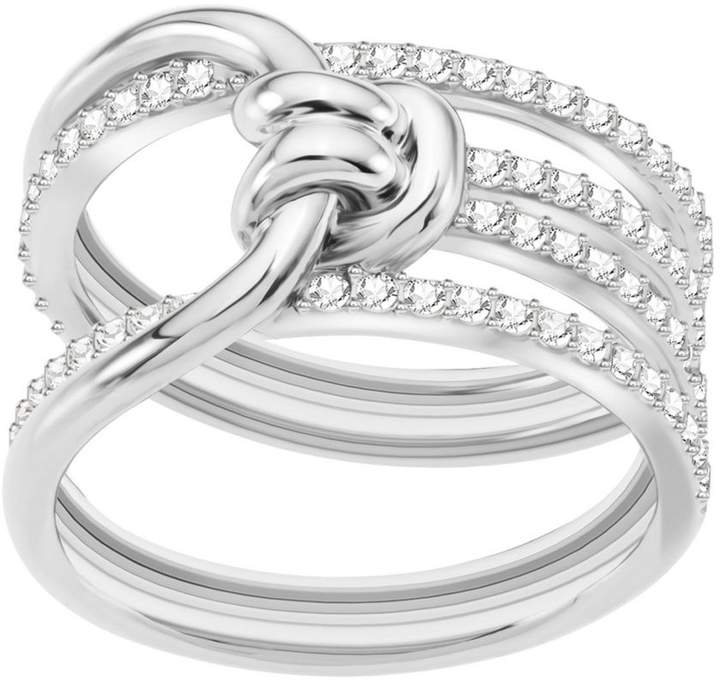 c11ecf50df976 Lifelong Crystal Knot Wide Ring