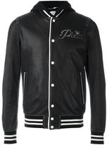 Philipp Plein 'Troublemaker' bomber jacket - men - Cotton/Calf Leather/Viscose - L
