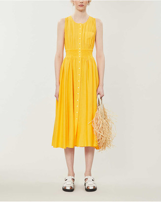 Maje Rellow cross-over woven midi dress