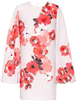 Costarellos Floral crApe minidress