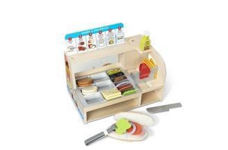 Melissa & Doug Wooden Slice & Stack Sandwich Counter