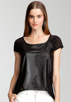Bebe Hi-Lo Laser Cut Top