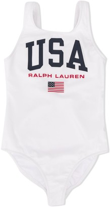 Ralph Lauren Kids USA print swimsuit