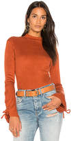 Somedays Lovin Tied Up High Neck Top in Burnt Orange. - size L (also in M,S,XS)