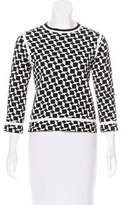 Marc Jacobs Checkered Virgin Wool Top