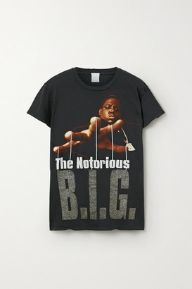 MadeWorn Biggie Distressed Printed Cotton-jersey T-shirt - Black