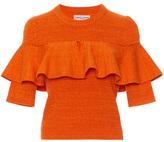 Apiece Apart Ruffled Ribbed-Knit Cotton Top