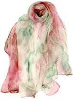 ANTONELLO SERIO Pink Green Silk