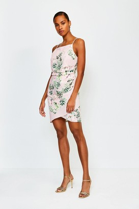 Karen Millen Floral Print Strappy Short Dress