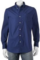Chaps Men's Classic-Fit Solid Poplin Stretch Button-Down Shirt