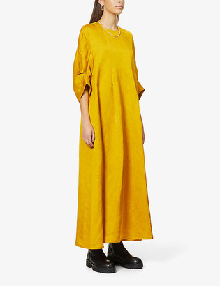 Toogood The Oilrigger linen-blend maxi dress