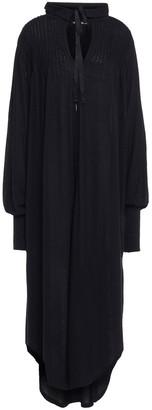 Ann Demeulemeester Pintucked Jersey Midi Dress
