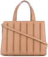 Max Mara ribbed effect tote - women - Calf Leather/cotton - One Size