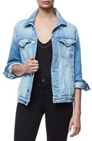 Good American Women's Mesh Letter Denim Jacket