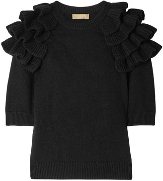 Michael Kors Ruffled Cashmere Sweater