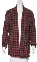 6397 Plaid Open Front Cardigan
