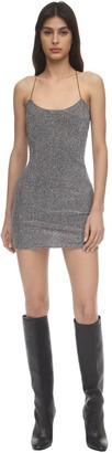 For Love & Lemons Constance Sparkle Knit Slip Dress