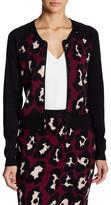 Romeo & Juliet Couture Animal Print Knit Zip Cardigan